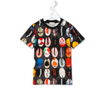 T-Shirt mit Kappen-Print