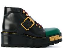buckled flatform 60 boots