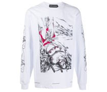 Sweatshirt mit Bondage-Print