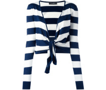 striped tie cardigan