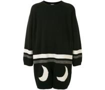 Pullover mit Mond-Print