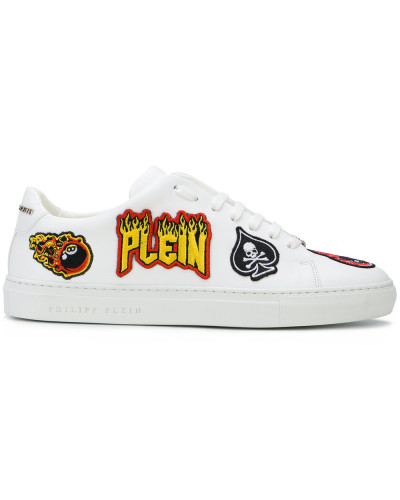 Philipp Plein Herren Sneakers mit Patches Neue Stile k8qbWZ761 ... ca041702e0
