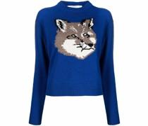 intarsia-knit wool jumper
