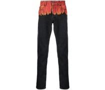 Jeans mit Flammen-Print