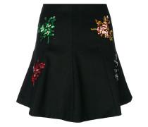 floral embellished mini skirt