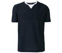 brand embossed contrast collar T-shirt