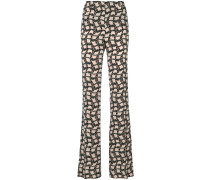 printed high waisted trousers