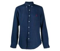 button-down linen shirt