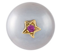 'Superstellar' pearl and sapphire stud earring