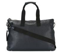 Handtasche mit Lederschildchen - unisex - Leder