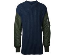 Pullover mit gesteppten Ärmeln - men