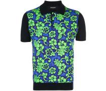 Hawaiian print polo shirt