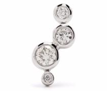 14kt white gold Hepburn diamond stud earring