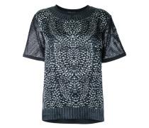 T-Shirt mit Schmuckstein-Print