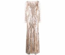 embellished bias-cut gown