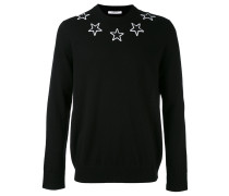 star embroidered sweater - men