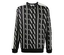 Pullover mit durchgehendem Logo-Print