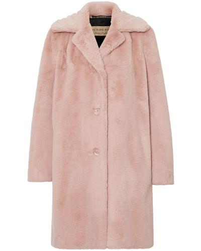 Einreihiger Mantel aus Faux Fur
