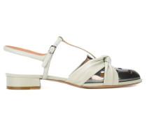Sandalen mit Metallic-Kappe - women