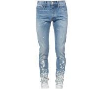 paint splash skinny jeans