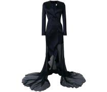 Seidenrobe im Anzug-Look