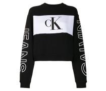 Cropped-Sweatshirt in Colour-Block-Optik