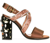 - Glitzernde Sandalen mit Verzierung - women