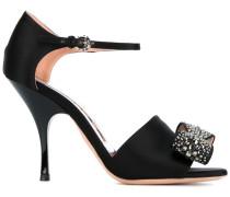 Sandalen mit verzierter Schleife - women