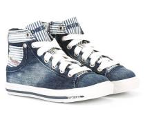 High-Top-Sneakers in Jeans-Optik