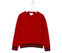 Pullover mit Webstreifen - kids - Baumwolle - 4