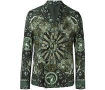 Carretto Siciliano print blazer
