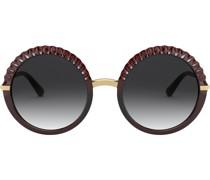 Runde 'Plissé' Sonnenbrille