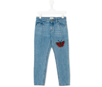 Jeans mit Schmetterlings-Patch
