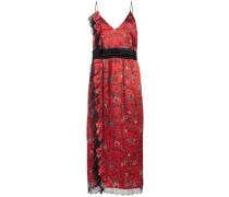Gemustertes Kleid mit gerüschten Details