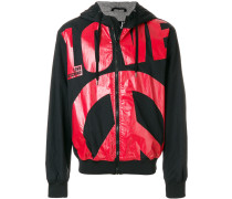 Love print bomber jacket