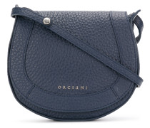 circular flap shoulder bag