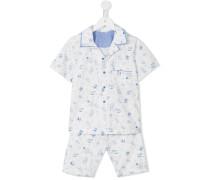 - Pyjama mit tropischem Print - kids - Baumwolle