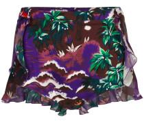 Hawaiian print beach shorts