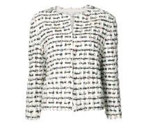 Tweed-Jacke mit Knopfverschluss