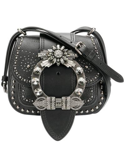Miu Miu Damen Satteltasche mit verzierter Schnalle Auslass Günstigsten Preis M2DNCmv