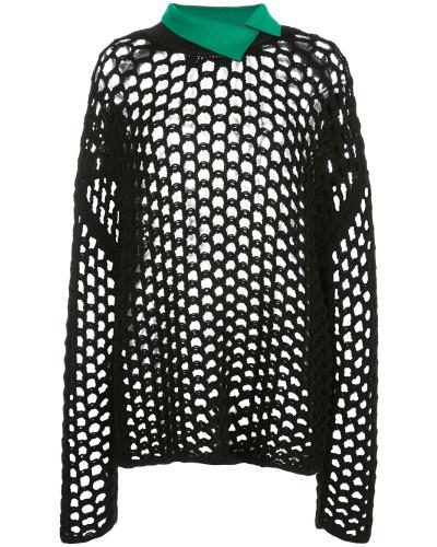 Pullover mit Lochstrickmuster