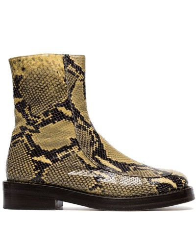 Stiefel in Schlangenleder-Optik
