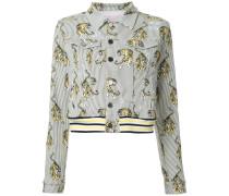 Jeansjacke mit Tiger-Print - women - Baumwolle