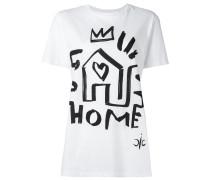 """- T-Shirt mit """"Home""""-Print - women - Baumwolle"""