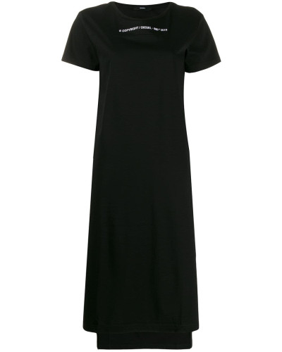 Langes Jersey-Kleid