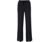 straight polka dot trousers