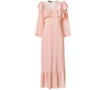 ruffle embellished maxi dress