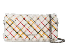 Checked Shearling Clutch