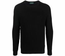 long-sleeved virgin wool jumper