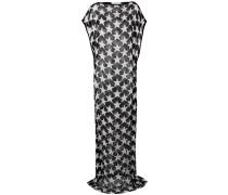 Semi-transparentes Kleid mit Stern-Print